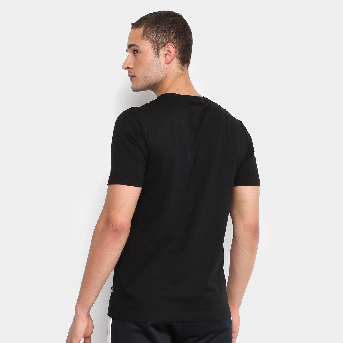 Camiseta Puma Essentials Small Logo Masculina - Preto - Compre Agora ... 1ec74da486a61