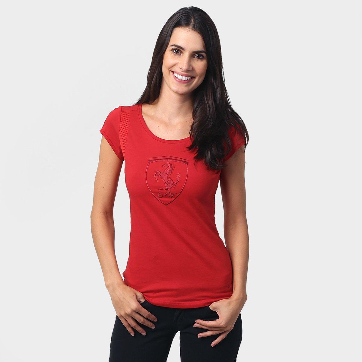 Camiseta Puma Ferrari Shield - Compre Agora  41aaa6f84a28b