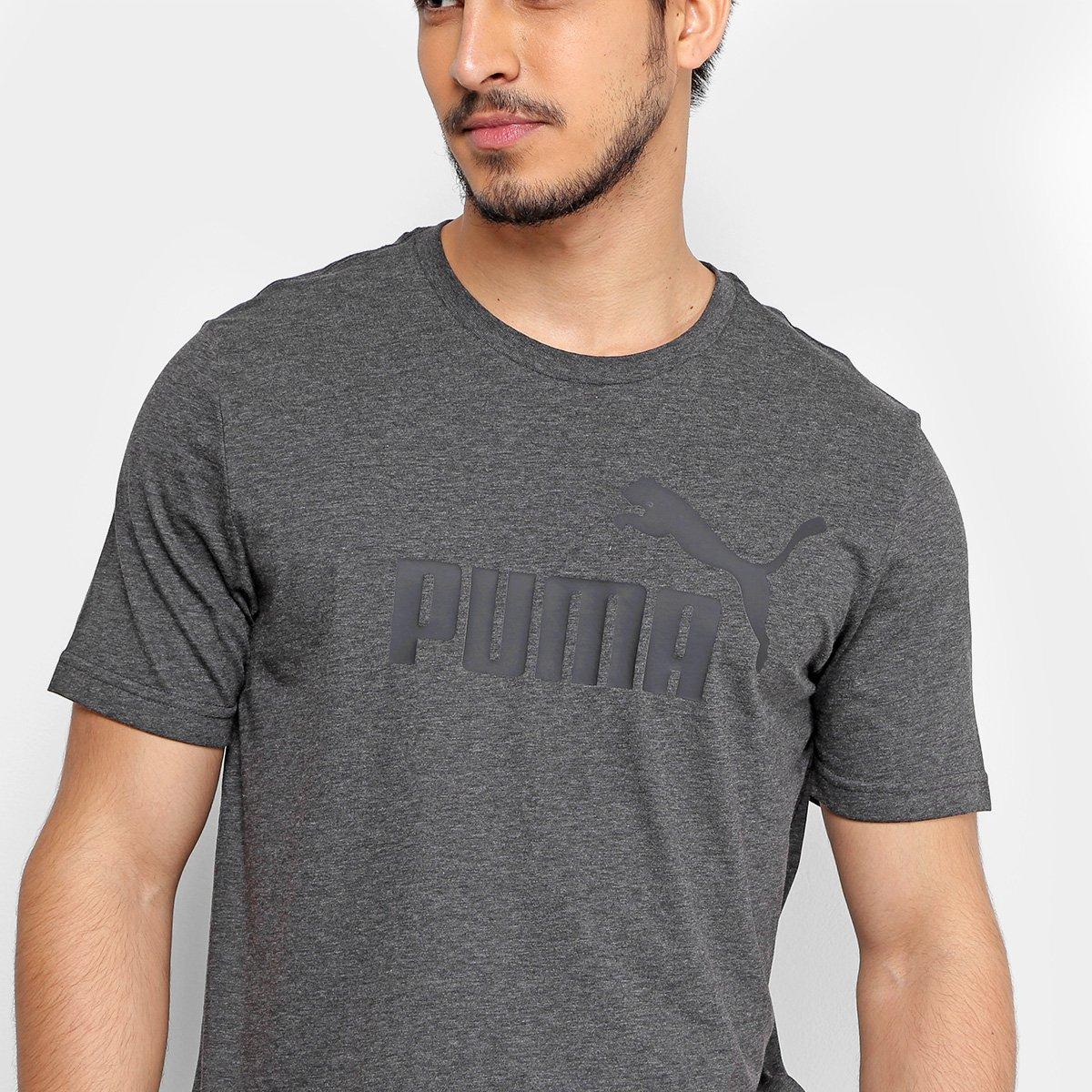 a6a7c59669 Camiseta Puma Heather Masculina - Cinza - Compre Agora