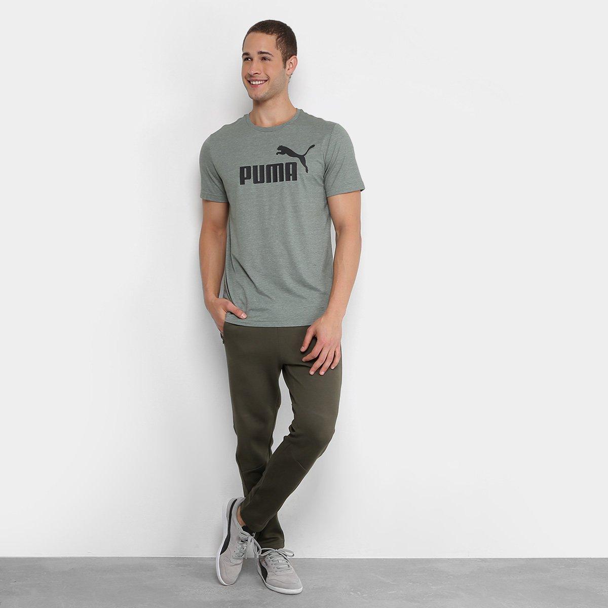 f112be7cdd Camiseta Puma Heather Masculina - Verde - Compre Agora