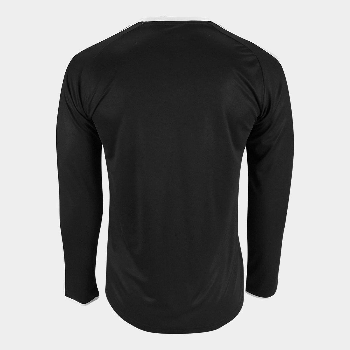 Camiseta Puma Liga Jersey Manga Longa Masculina - Preto e Branco ... 59a825d43056b