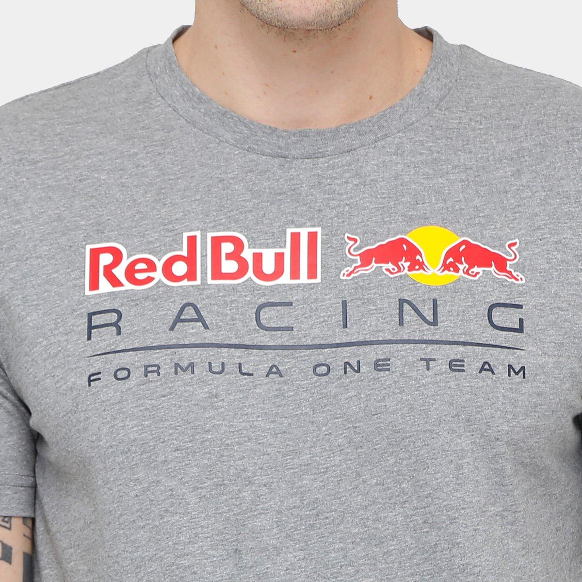 560d931590 Camiseta Puma Logo Red Bull Racing Masculina - Mescla - Compre Agora ...