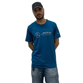 Camiseta Puma MAPM Logo Masculina - Azul
