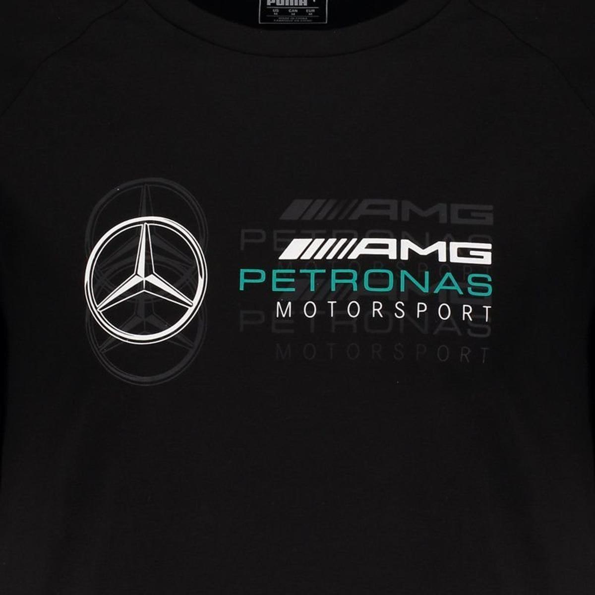 Camiseta Puma Mercedes AMG Petronas Logo Masculina - Preto - Compre ... 24828ba474724