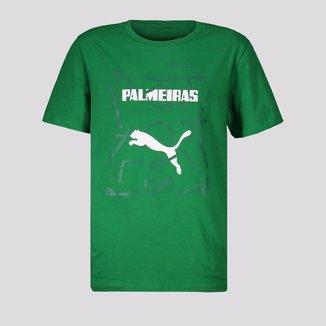 Camiseta Puma Palmeiras Graphic Juvenil