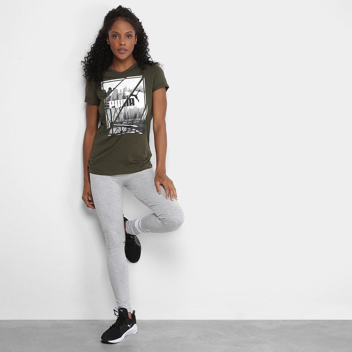 Camiseta Verde Photoprint Feminina Puma Camiseta Puma xqdX7qPR