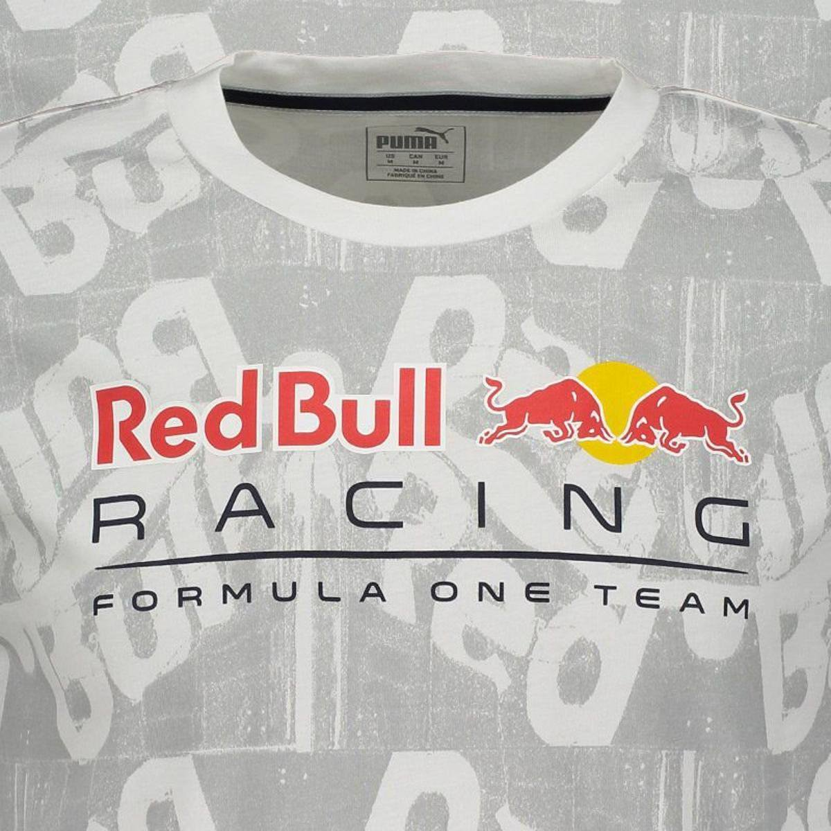Camiseta Puma Red Bull Racing AOP Masculina - Branco - Compre Agora ... 4eacab41bb3