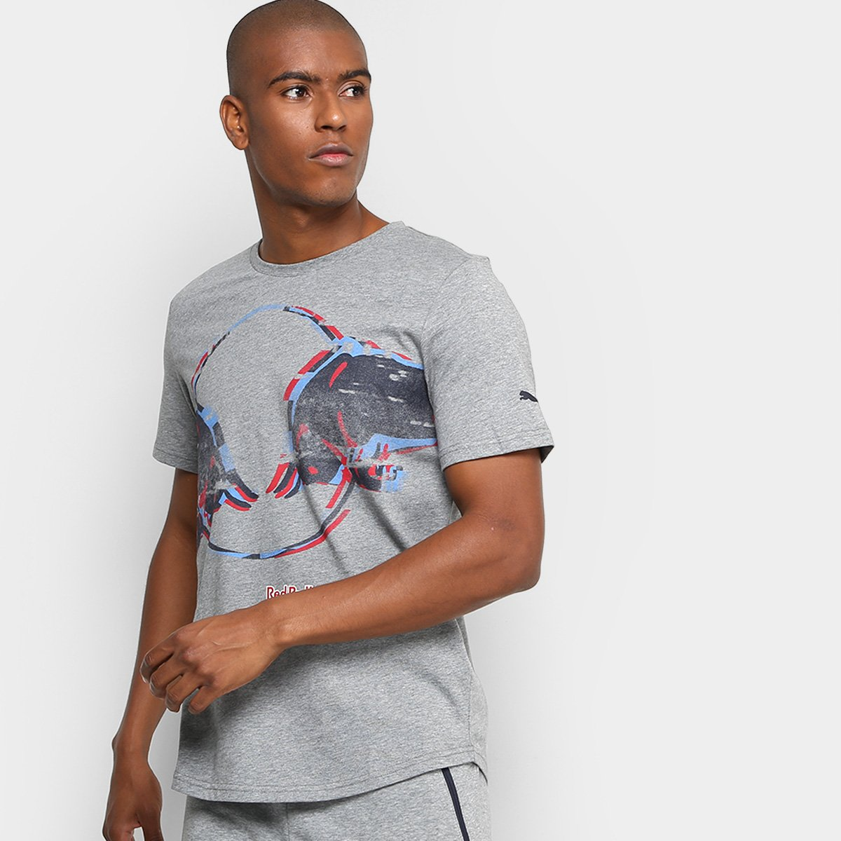 Camiseta Puma Red Bull Racing Double Bull Masculina - Compre Agora ... 982d9458fd3