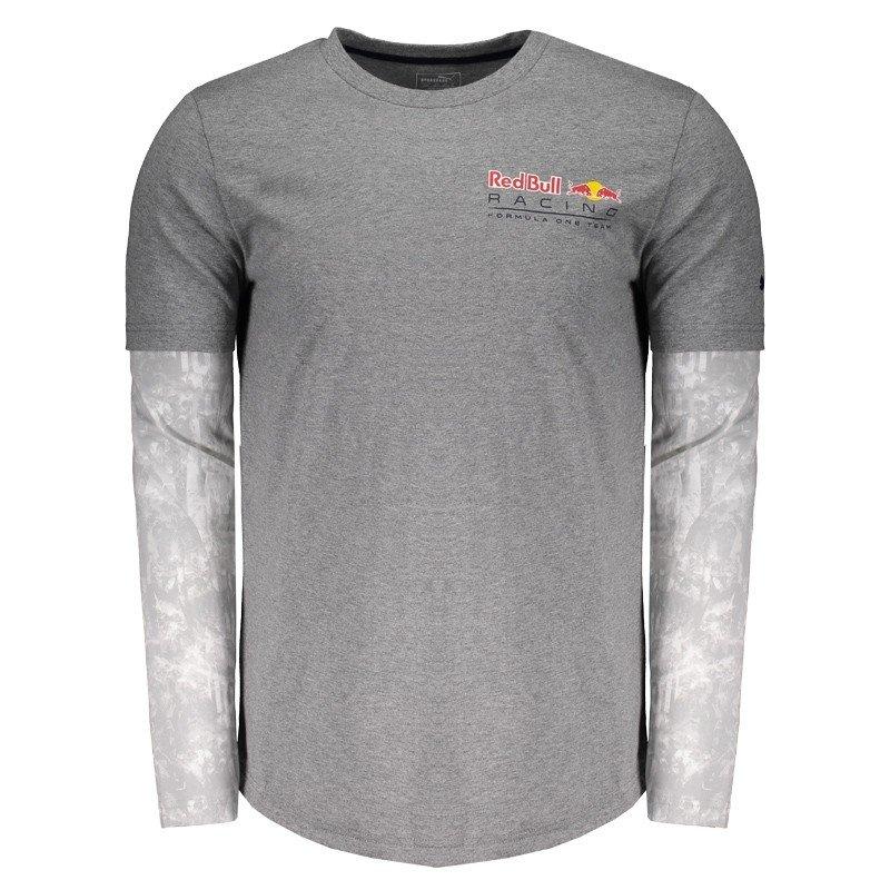 Camiseta Puma Red Bull Racing F1 Team Manga Longa - Cinza - Compre Agora  48a5e06ad08