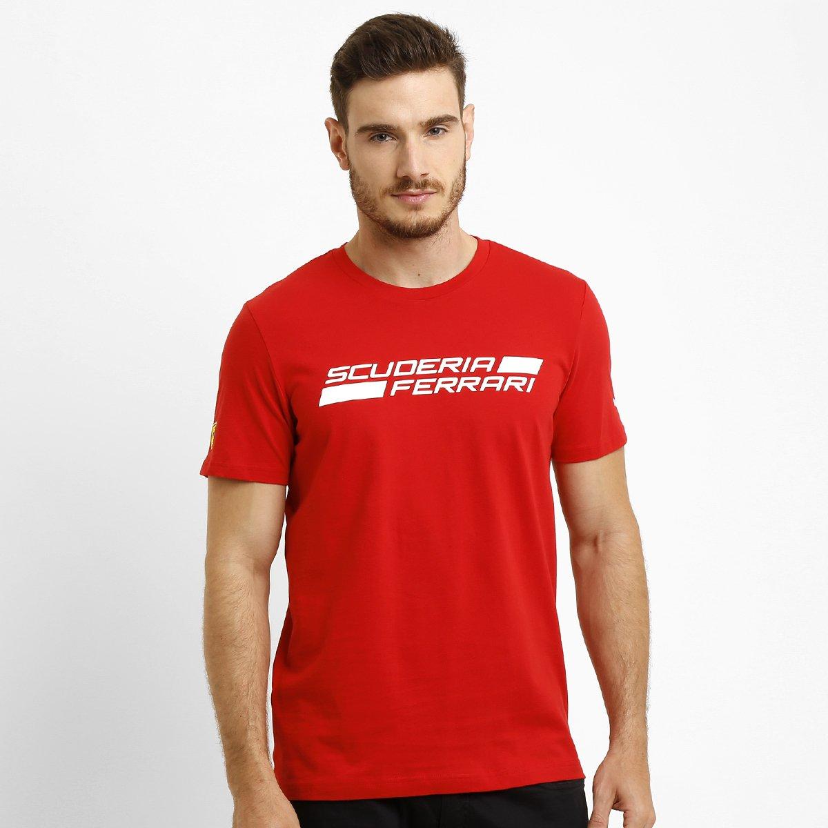 Camiseta Puma Scuderia Ferrari Graphic Tee - Compre Agora  8586e0e74cace