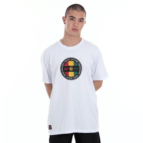 Camiseta Qix Roots Flag - Branco