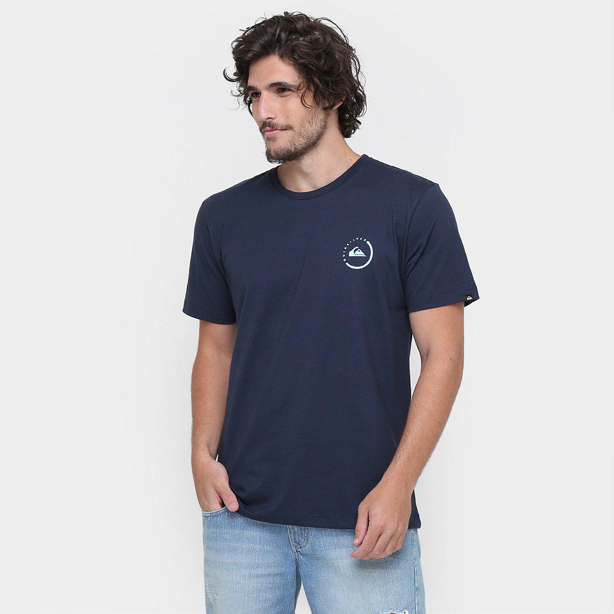 aaa7af260b26e Camiseta Quiksilver Básica Active Logo Plus - Marinho - Compre Agora ...