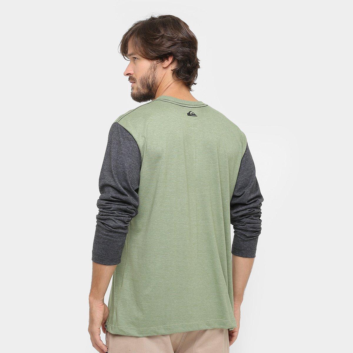 Camiseta Quiksilver Basica Colors Manga Longa - Compre Agora   Netshoes b37f265783