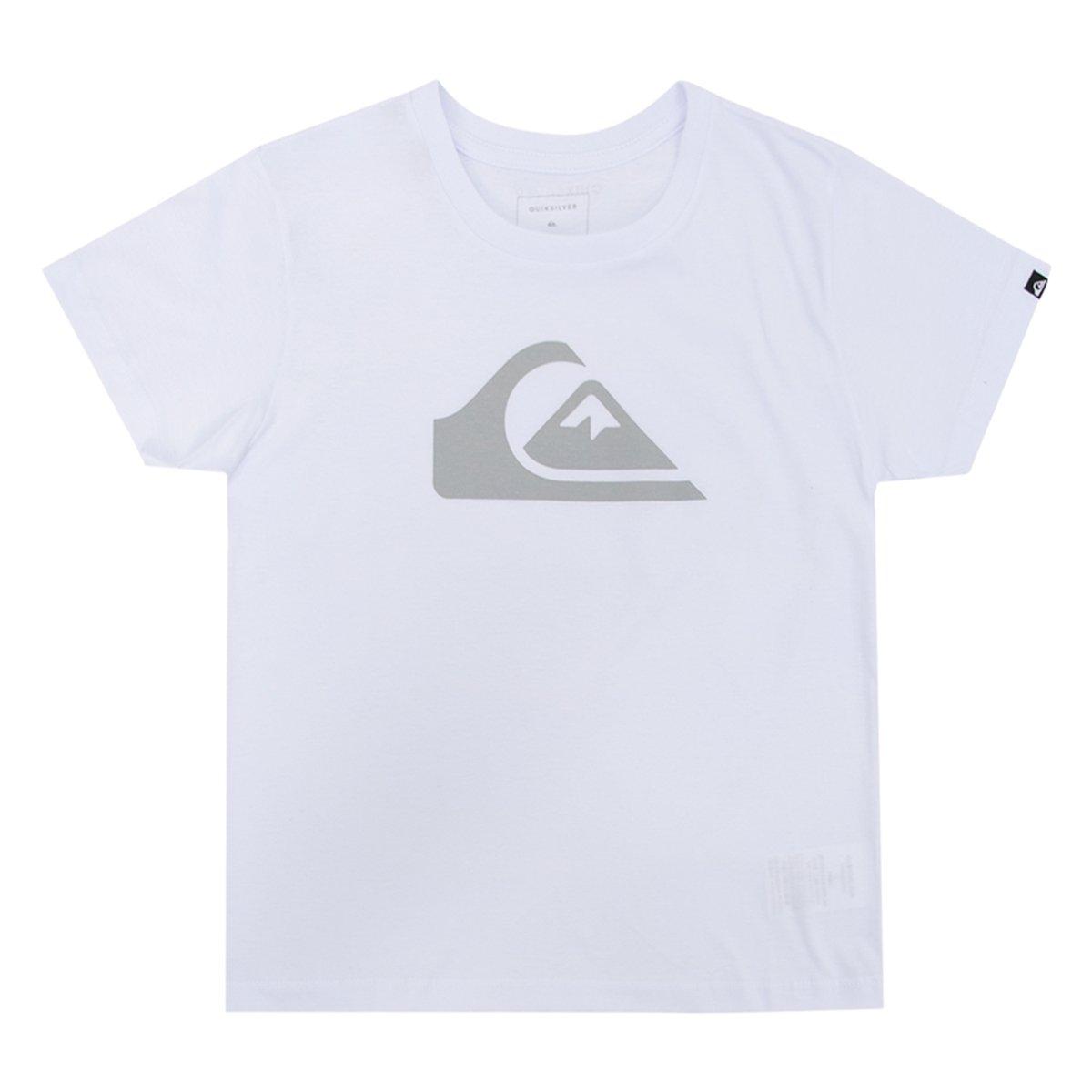 Camiseta Quiksilver Infantil Kids Logo - Compre Agora  c90cd55ef19