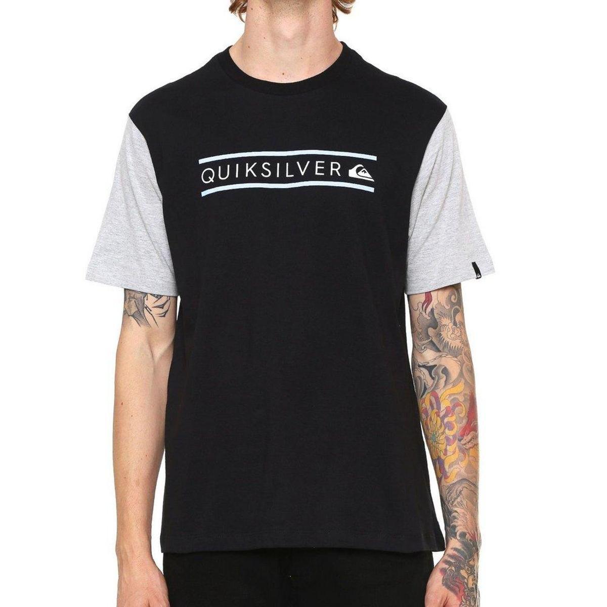 5c453490f57 Camiseta Quiksilver Schwack - Preto - Compre Agora