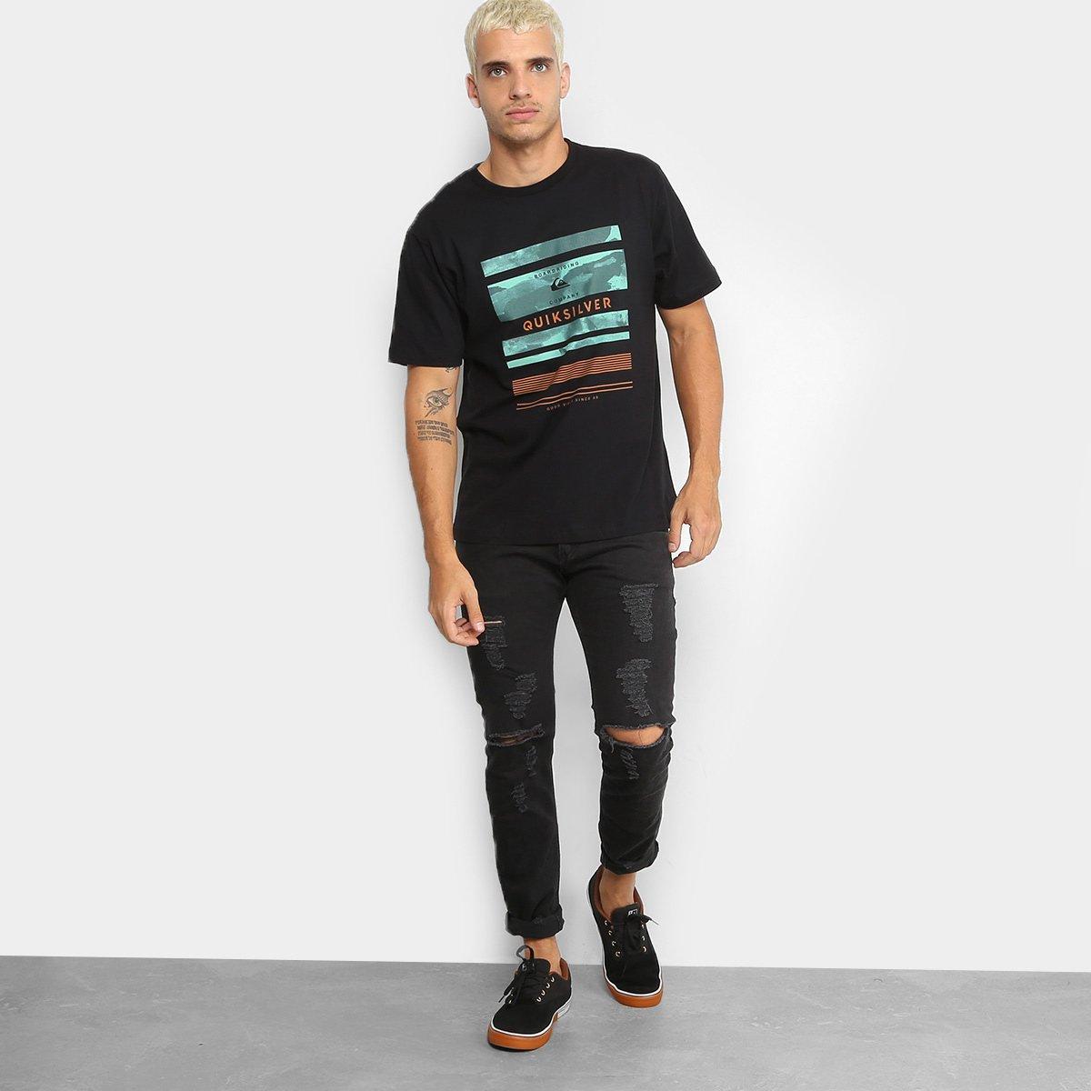 8af40fade9 Camiseta Quiksilver Stinger Masculina - Compre Agora