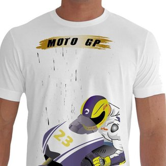 Camiseta Quisty Moto Velocidade 100% Algodão Premium CMCMTGP0013 - XGGPR