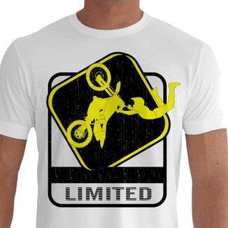 Camiseta Quisty Motocross 100% Algodão Premium CMCMOTO0033 - GGPR