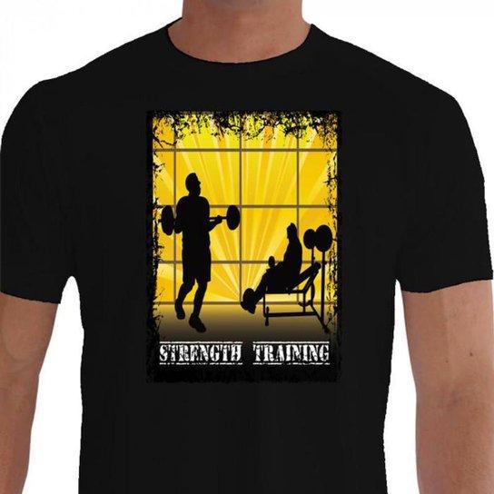 Camiseta Quisty Musculação 100% Algodão Premium CMCMUSC0018 - GGPR - Preto