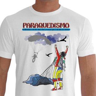 Camiseta Quisty Paraquedismo 100% Algodão CMCPRQD0018 MBR