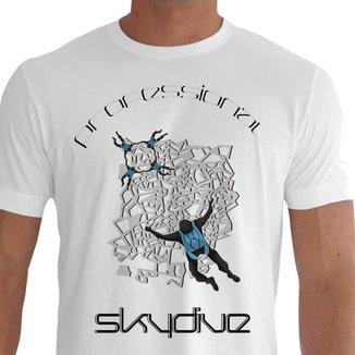 Camiseta Quisty Paraquedismo 100% Algodão CMCPRQD0035 XGGBR