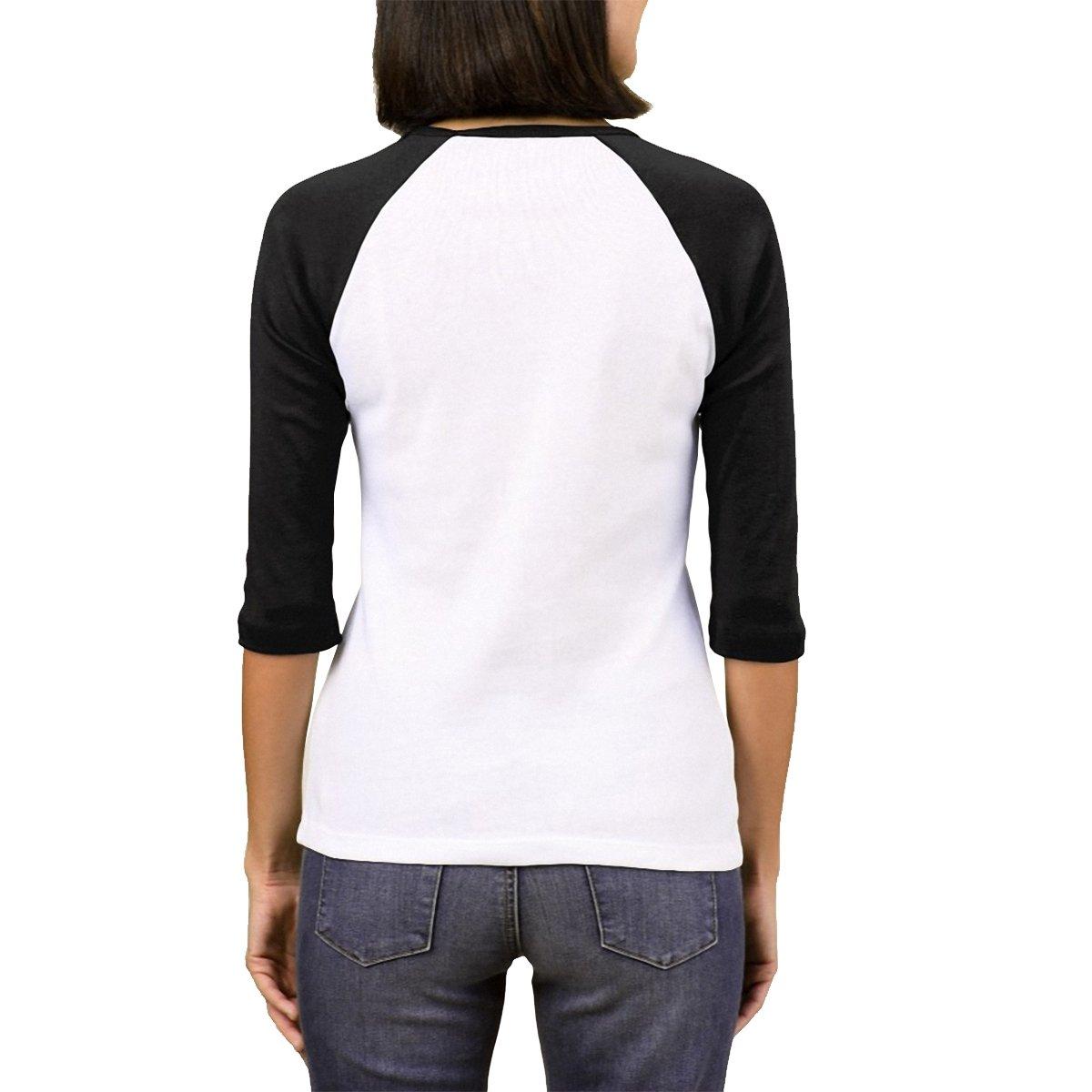 Preto Raglan Chess Branco Feminina Camiseta Clothing e Raglan Camiseta EYpqwHqx