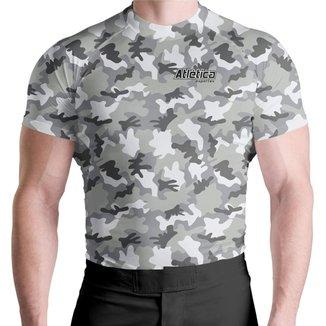 Camiseta Rash Guard Compressão Camuflada Proteção Uv Térmica ATL Masculina