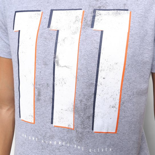 Camiseta RB111 Rubens Barrichello Dirty Masculina - Mescla