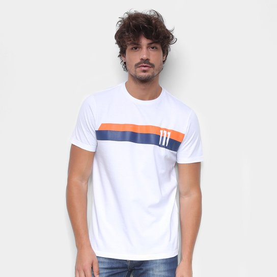 Camiseta RB111 Speed Rubens Barrichello Masculina - Branco