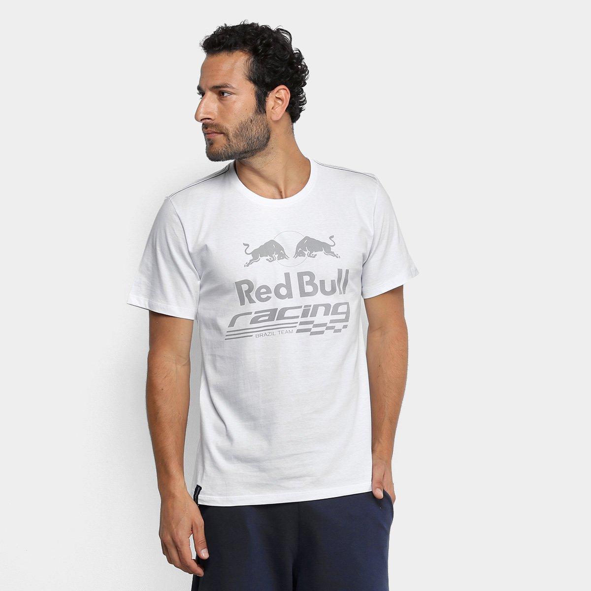 a3496c71da5f8 Camiseta Red Bull Racing Estampa Contraste Masculina - Branco - Compre  Agora