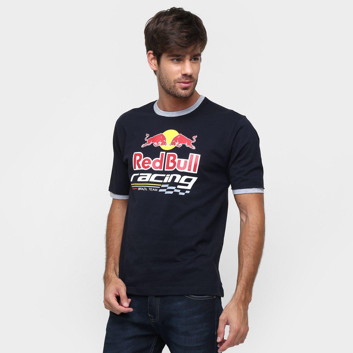 ceedb643b4398 Camiseta Red Bull Sc Logo Details - Marinho. até 1x de R  69