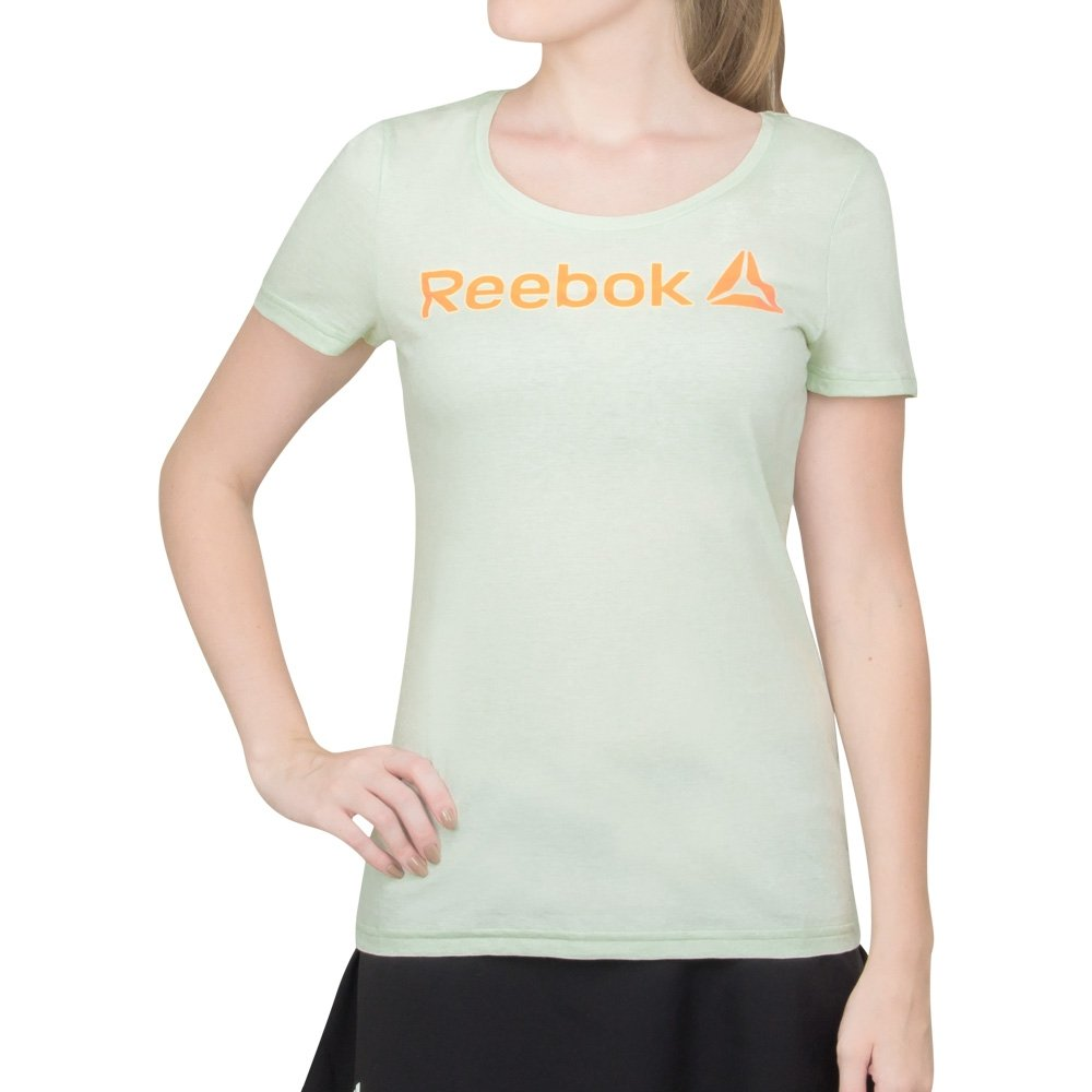 Verde Camiseta Camiseta Reebok Linear Verde Linear Camiseta Reebok KqA0ccTy