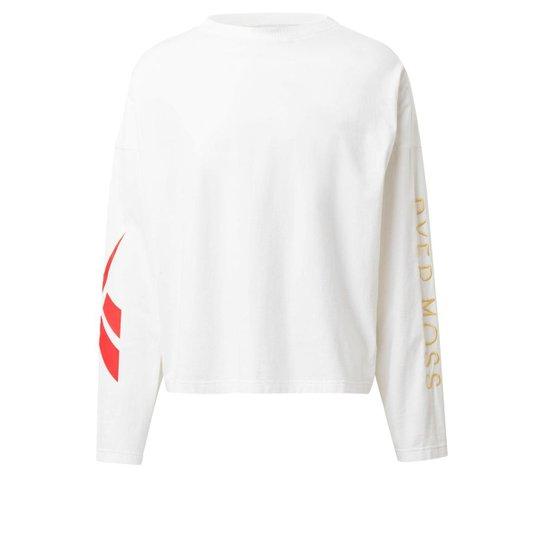 Camiseta Reebok  Manga Longa Logos - Branco