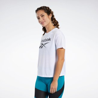 Camiseta Reebok Workout Ready Supremium Logo Feminina