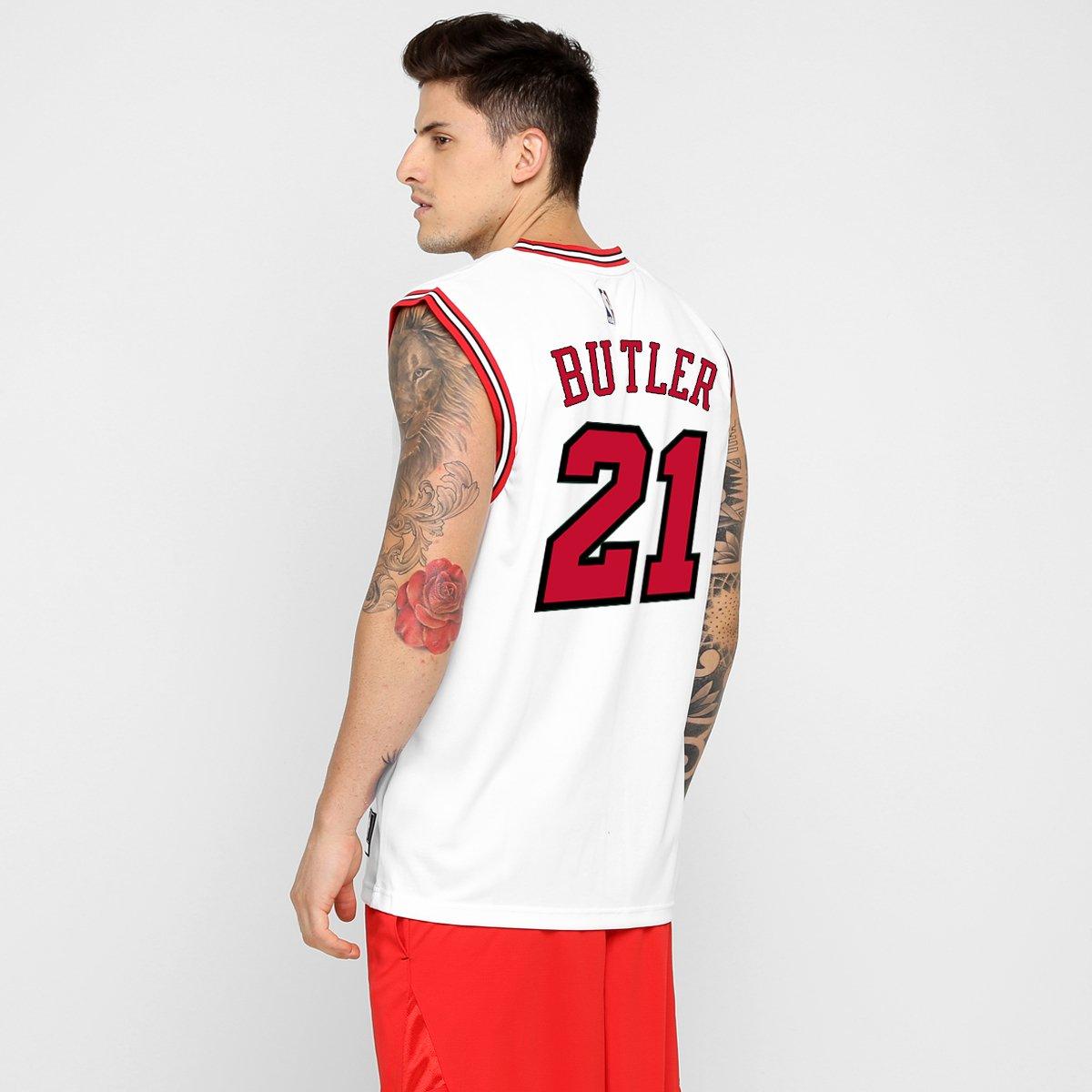 664b65c35 Camiseta Regata Adidas Chicago Bulls Home - Butler nº 21 - Compre Agora