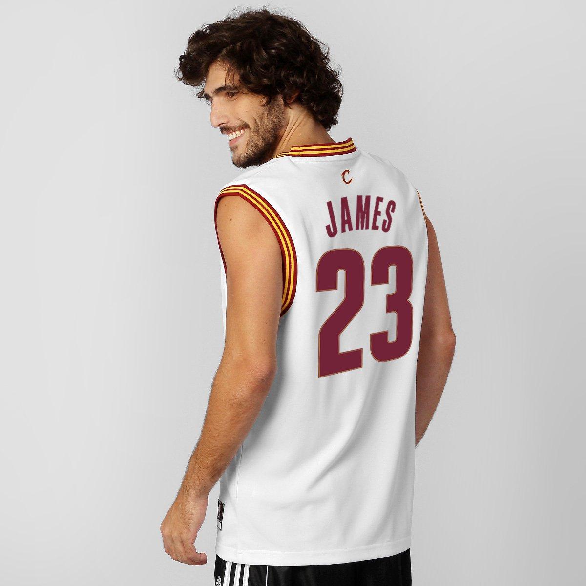 52b9b3a2c Camiseta Regata Adidas Cleveland Cavaliers Home - James nº 23 - Compre  Agora