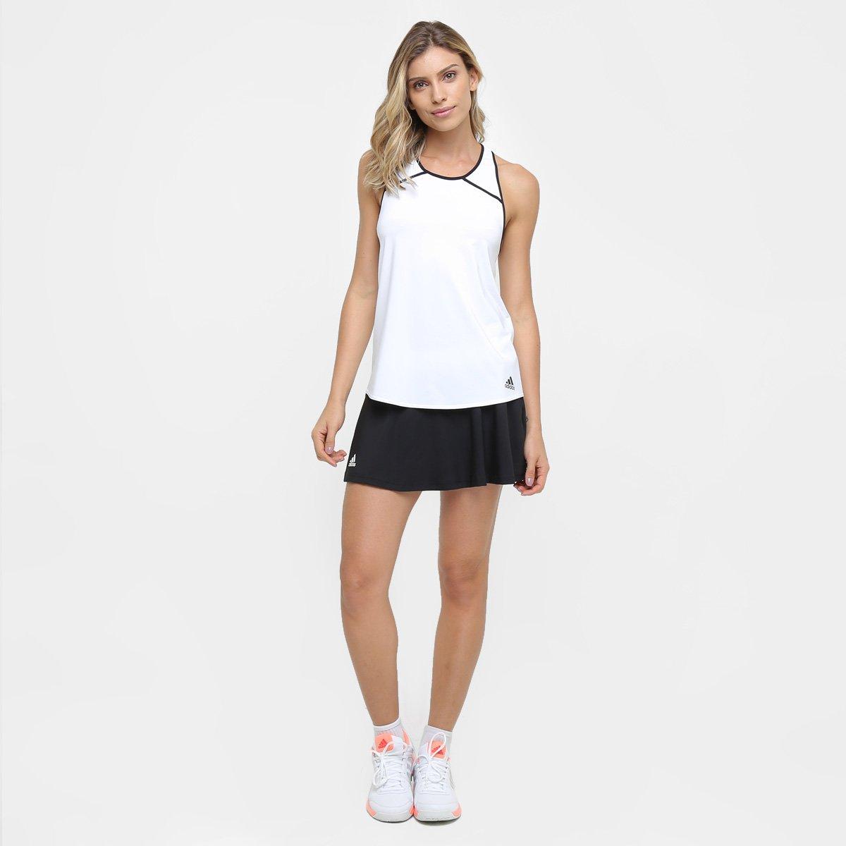 e W Preto Camiseta Regata Club Branco Adidas Camiseta Regata HzRwq66