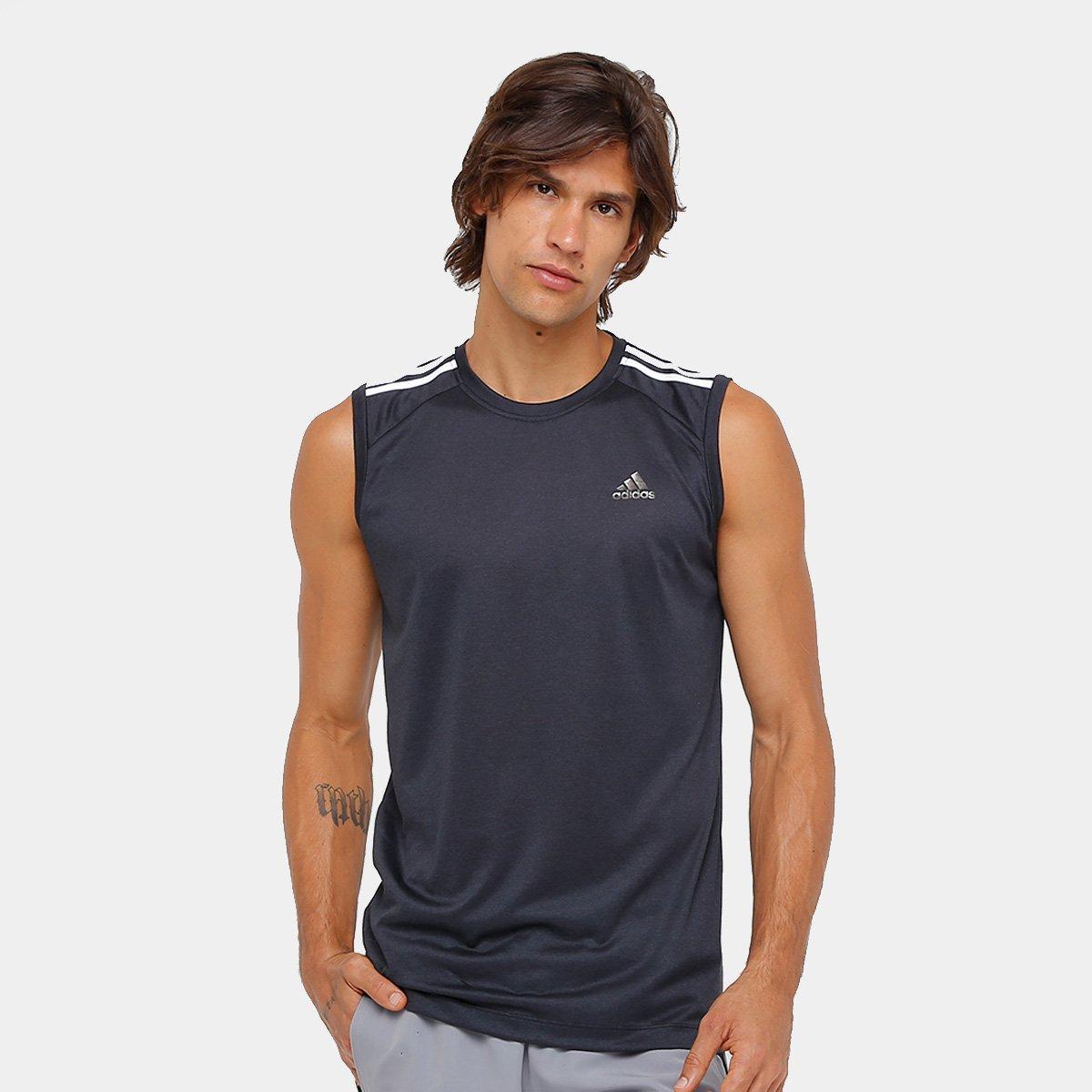 afe713e0efc5a Camiseta Regata Adidas Ess 3S Egb Masculina - Compre Agora
