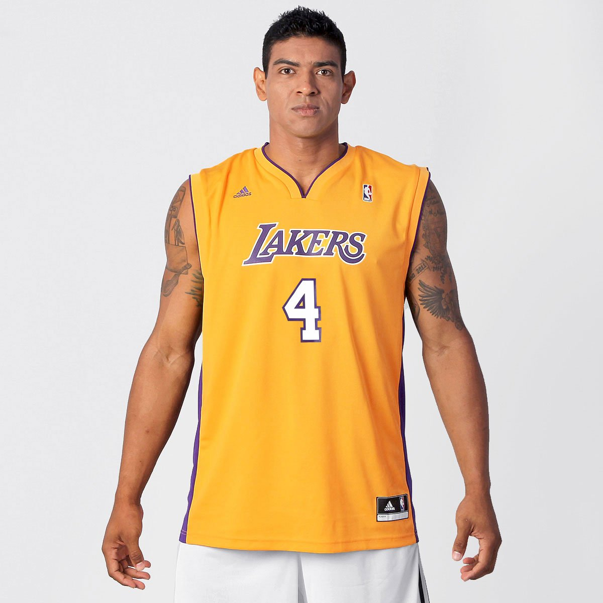 6ea239d57c Camiseta Regata Adidas Los Angeles Lakers Home - Huertas nº 4 - Compre  Agora