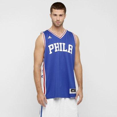 daf187dc7 Camiseta Regata Adidas NBA 76ERS Road - Compre Agora