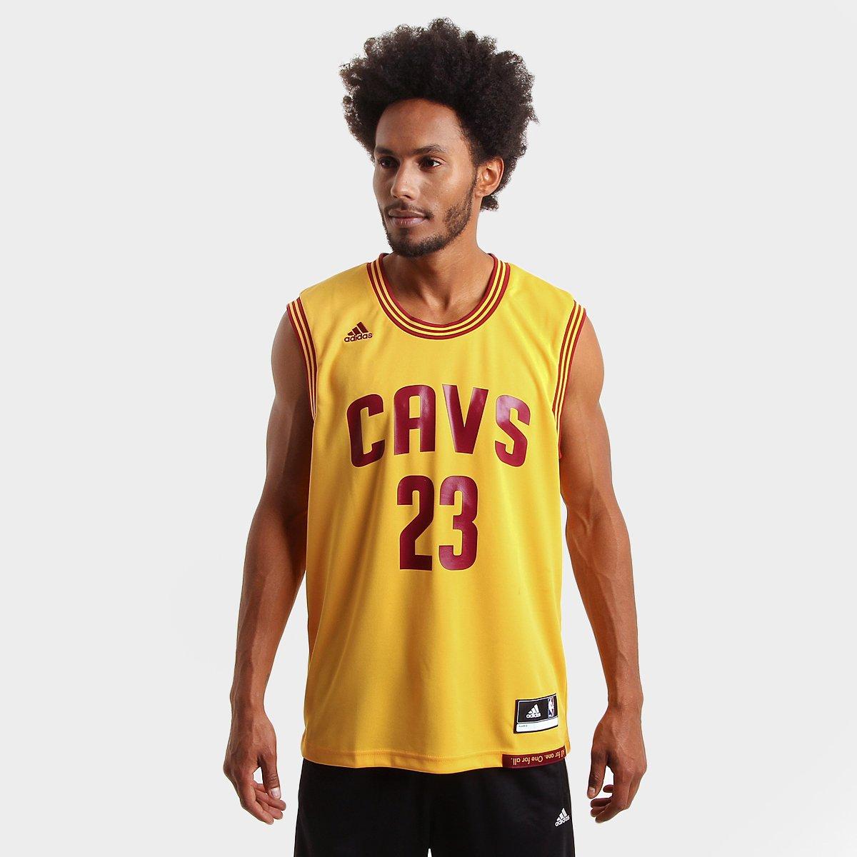 fb5baecd6 Camiseta Regata Adidas NBA Cleveland Cavaliers - James - Compre Agora