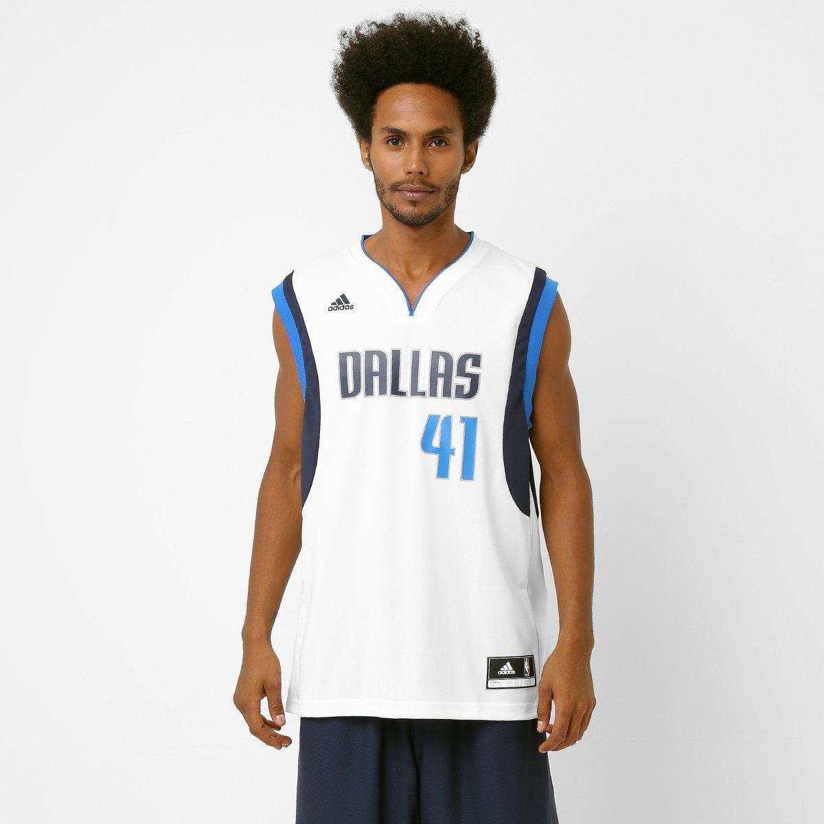 Camiseta Regata Adidas NBA Dallas Mavericks - Nowitzki - Compre Agora  ded88ab4efa2b