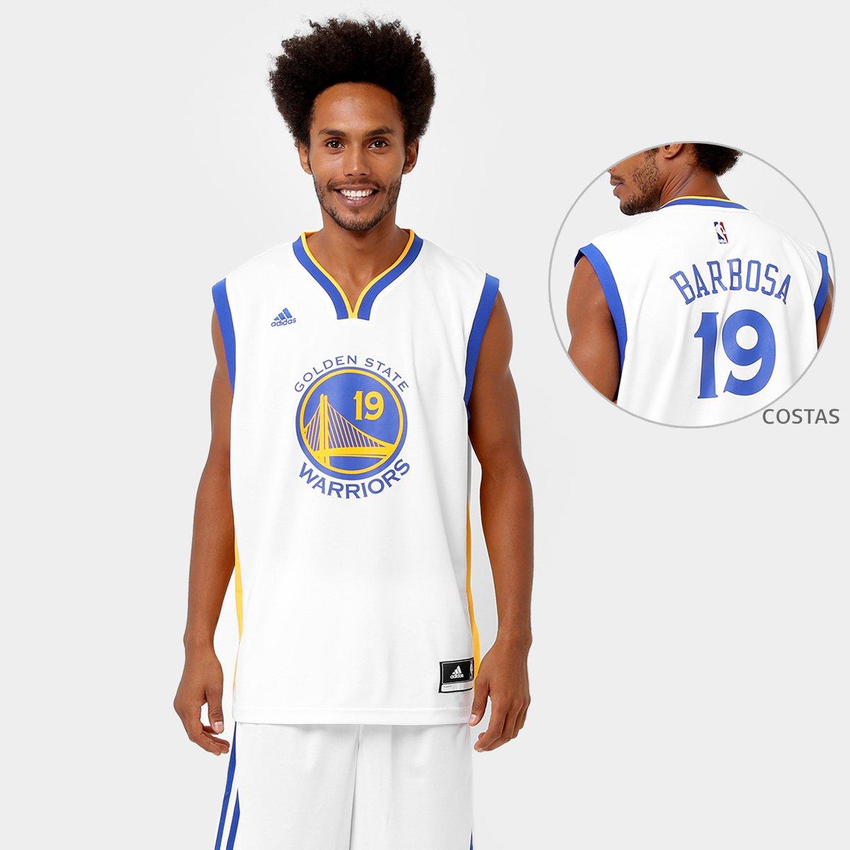 Camiseta Regata Adidas NBA Golden State Warriors - Barbosa - Compre ... 7ffc0b661648e