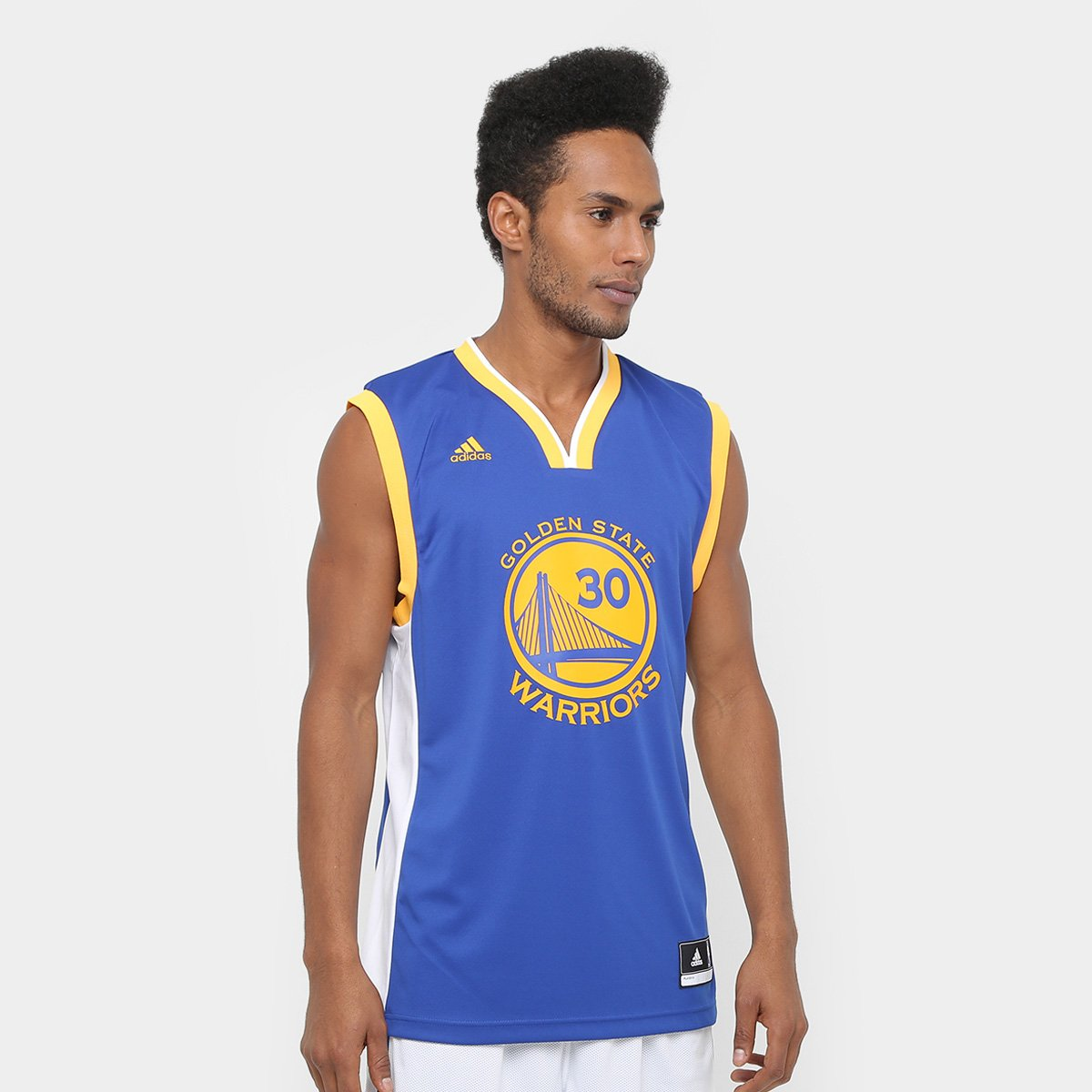 2b6f340ac Camiseta Regata Adidas NBA Golden State Warriors Curry Masculina - Compre  Agora