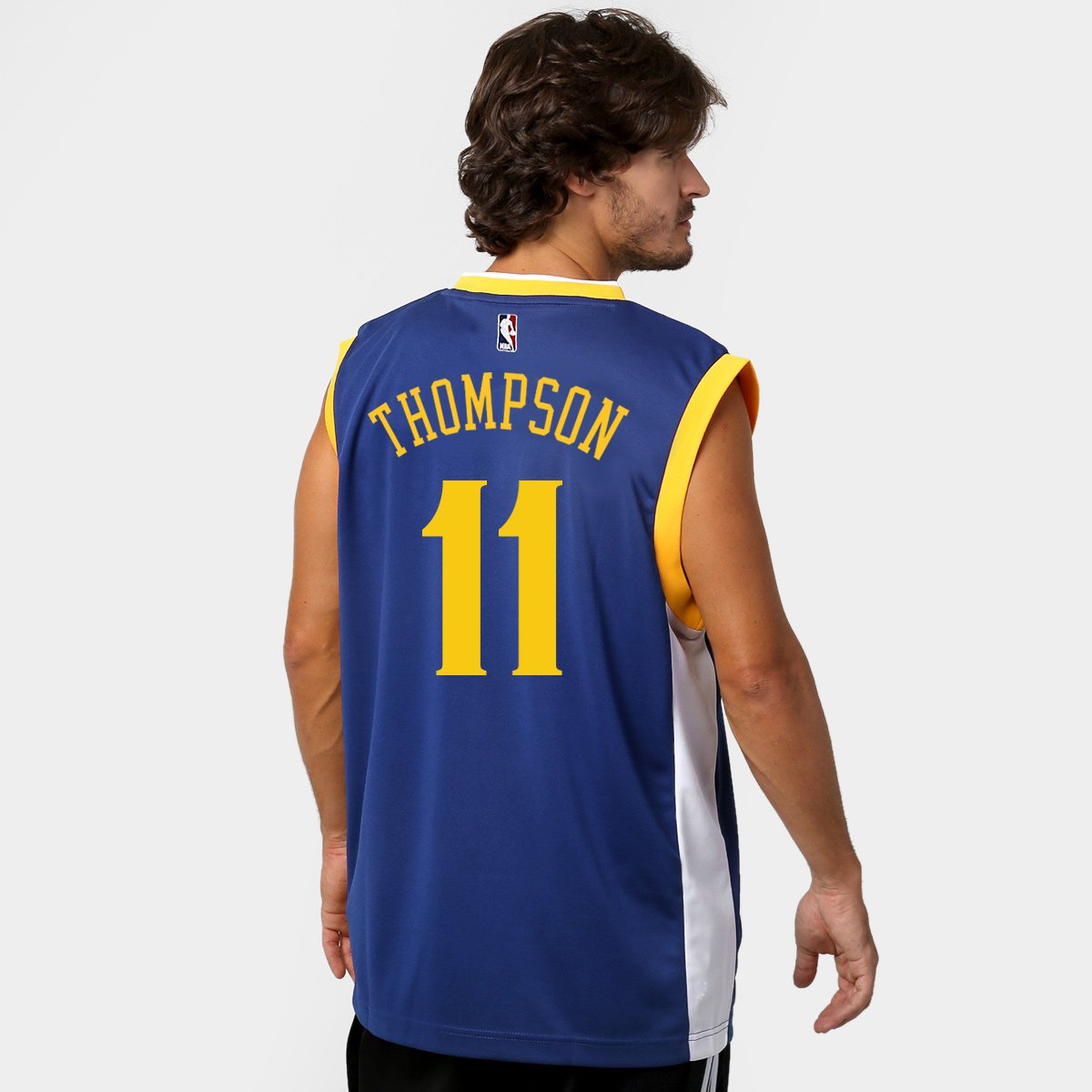 aa55e7f37 Camiseta Regata Adidas NBA Golden State Warriors Road - Thompson nº 11 -  Compre Agora