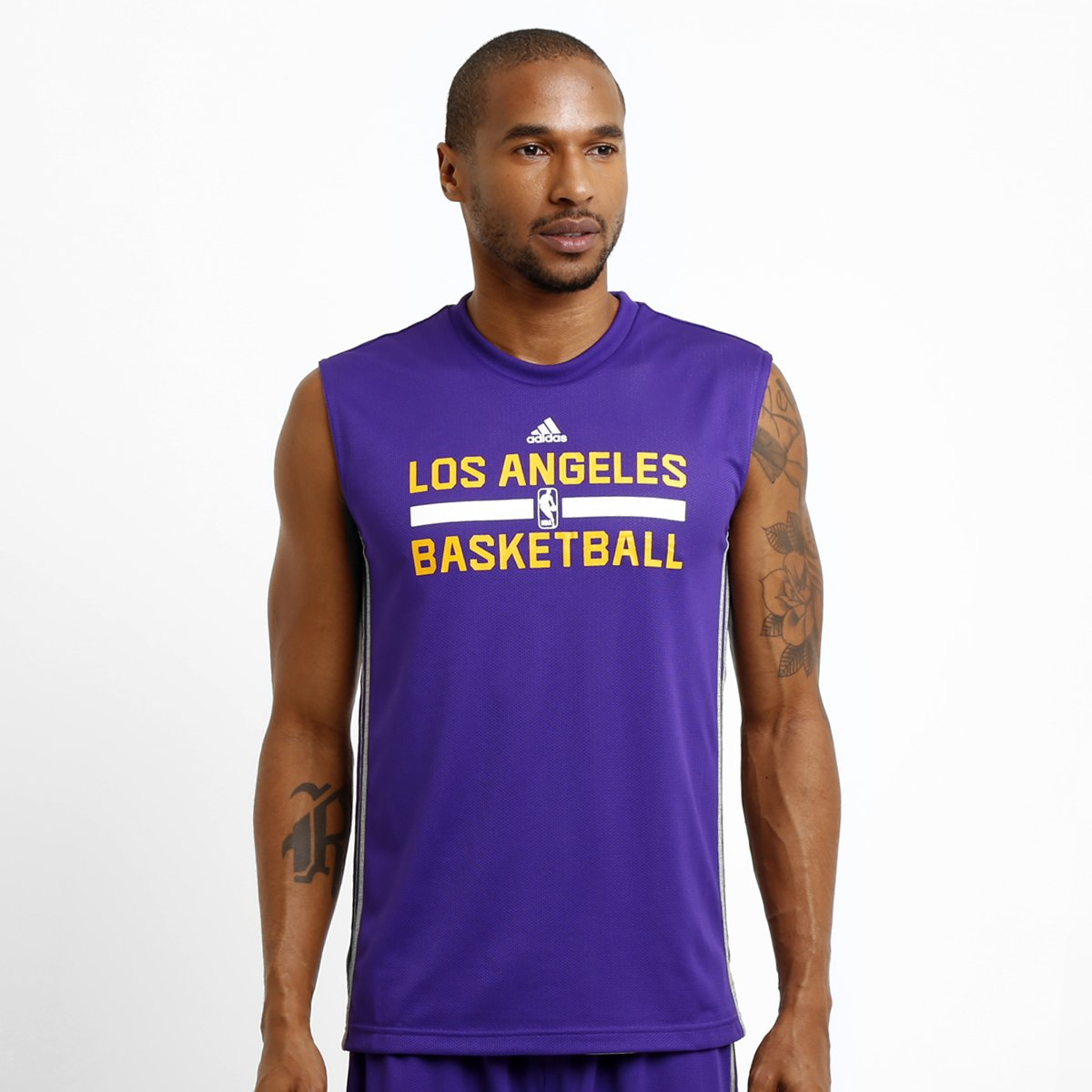 4d3045d83b492 Camiseta Regata Adidas NBA Los Angeles Lakers Reversivel - Compre Agora