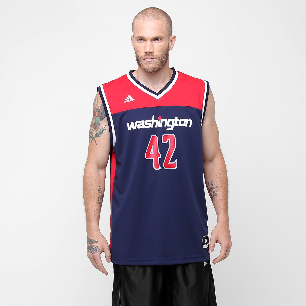 1b60b3761 Camiseta Regata Adidas NBA Washington Wizards - Nene - Compre Agora ...