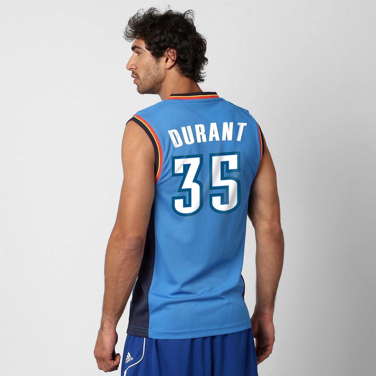 b1b40c91e Camiseta Regata Adidas Oklahoma City Thunder Road nº 35 - Kevin Durant -  Compre Agora