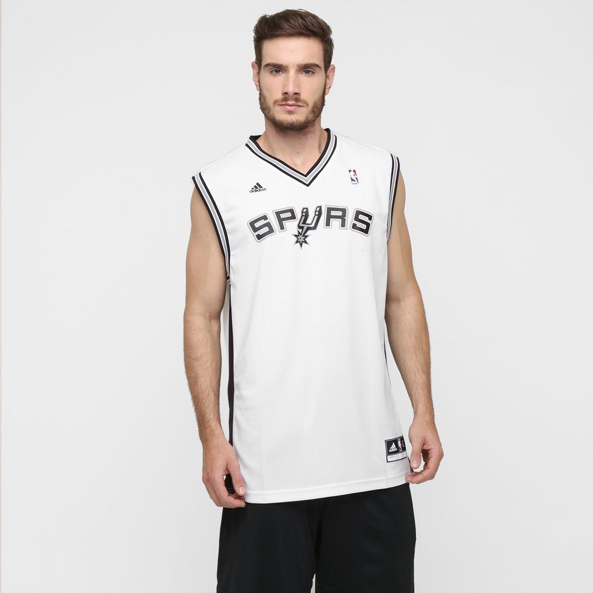 6e95f9c42 Camiseta Regata Adidas San Antonio Spurs Home - Compre Agora