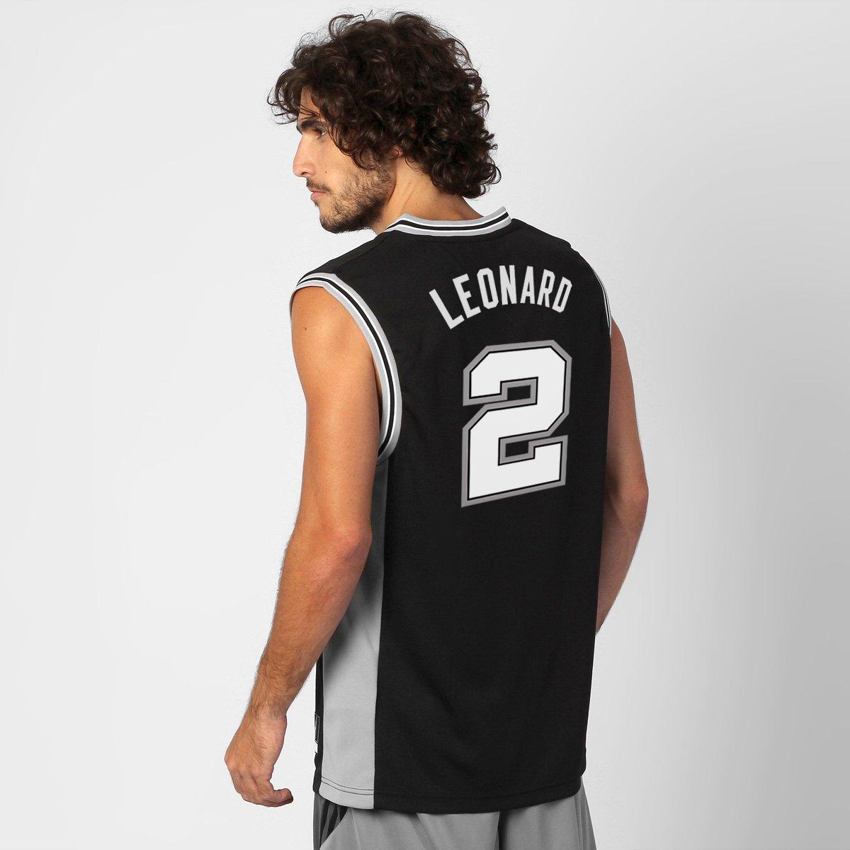 90eca63e0 Camiseta Regata Adidas San Antonio Spurs Road - Leonard nº 2 - Compre Agora